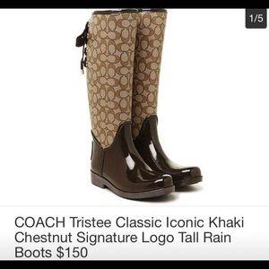 Coach Signature logo rain boots